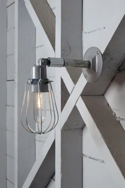 Wall Mounted Lamps With Plug Outdoor Wall Light - Exterior Wire Cage Wall Sconce Lamp