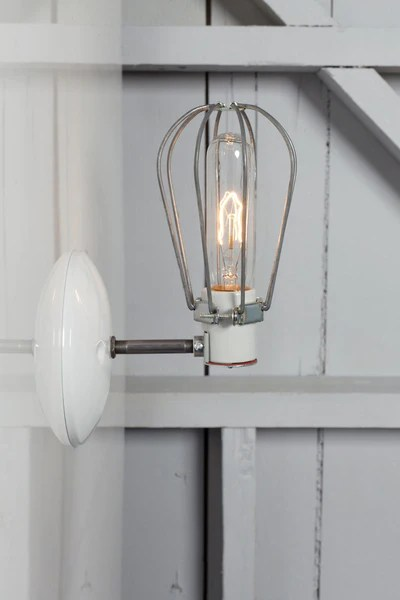 Wall Mounted Lamps With Plug Industrial Wall Lamp - Wire Cage Wall Sconce Lamp