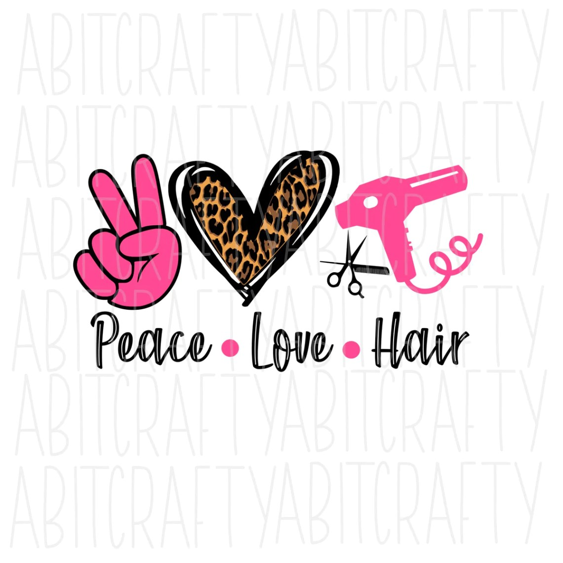 Download Peace Love Hair svg, png, sublimation, digital download ...
