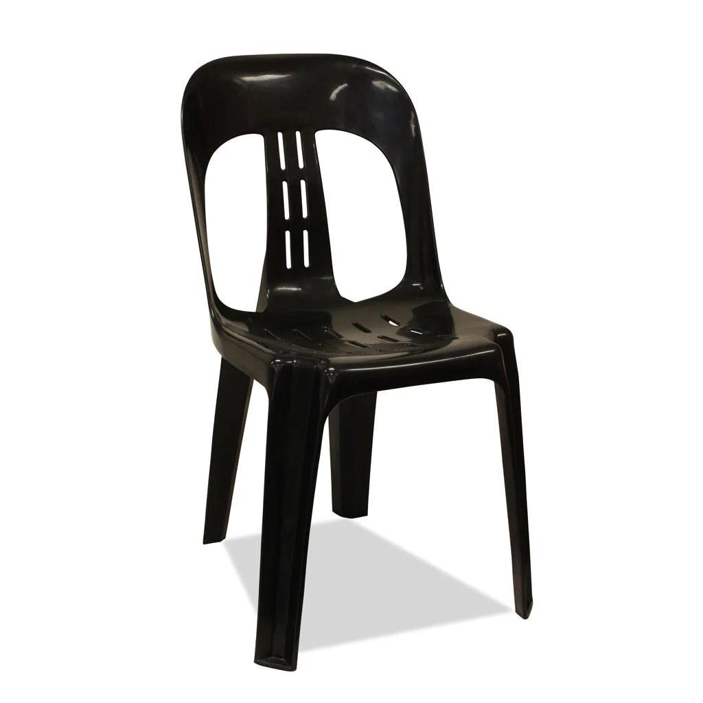 Plastic Stacking Chairs - Barrel Black Nufurn