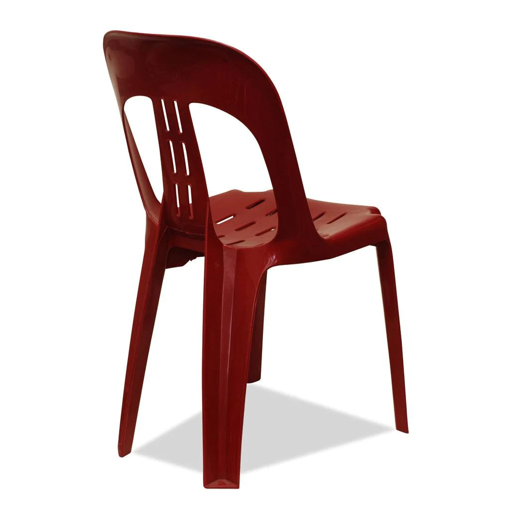 Plastic Stacking Chairs Barrel Plastic Stacking Chair Burgundy Nufurn