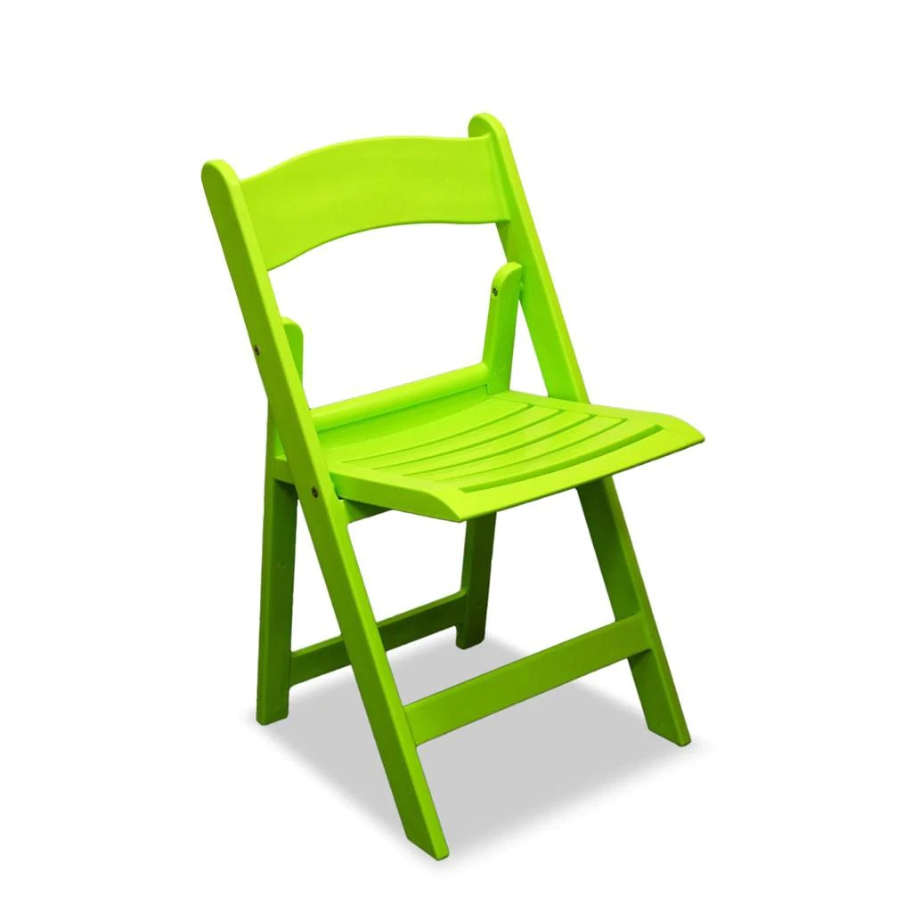 lime green bistro chairs oversized anywhere chair americana resin folding nufurn wimbledon