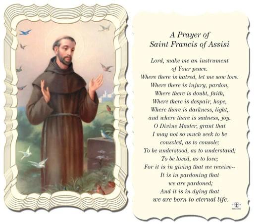 St Francis Of Assisi Prayer FREE Ship 49 Catholic