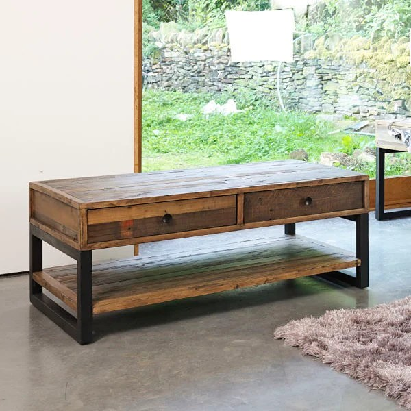 perfect industrial style coffee table