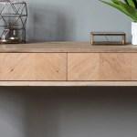Portobello Oak Console Table With Drawers Modish Living