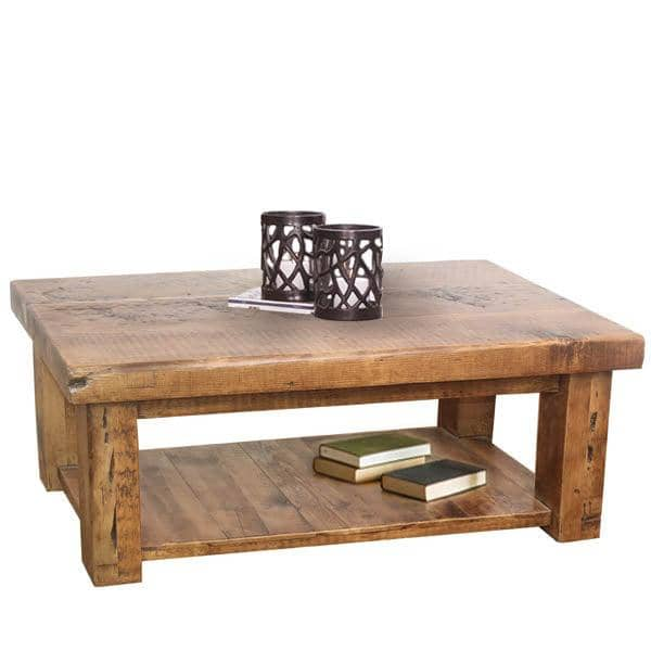 beam reclaimed wood coffee table