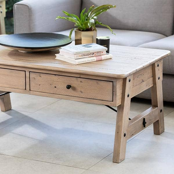 chelwood nordic reclaimed wood coffee table