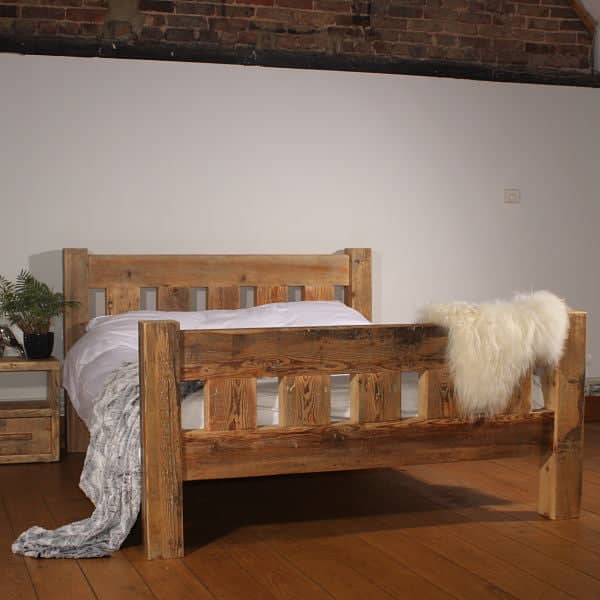 industrial style sofa children s pull out handcrafted reclaimed wood bed | rustic wooden |modish ...