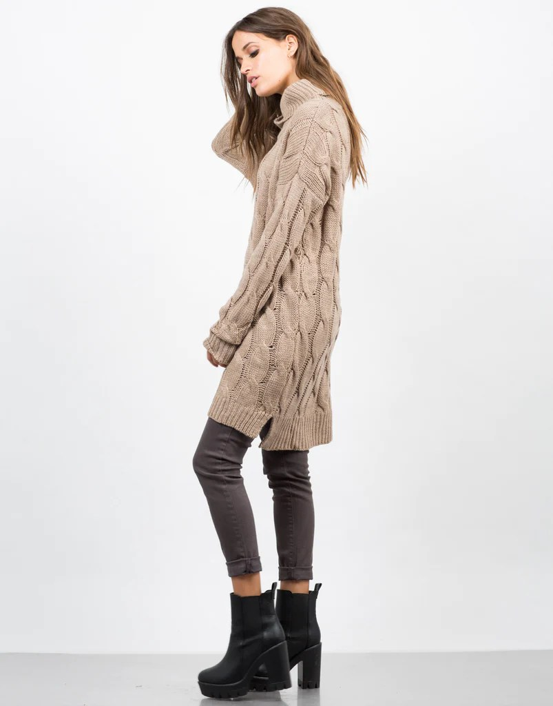 Chunky Turtleneck Sweater Dress - Day 2020ave