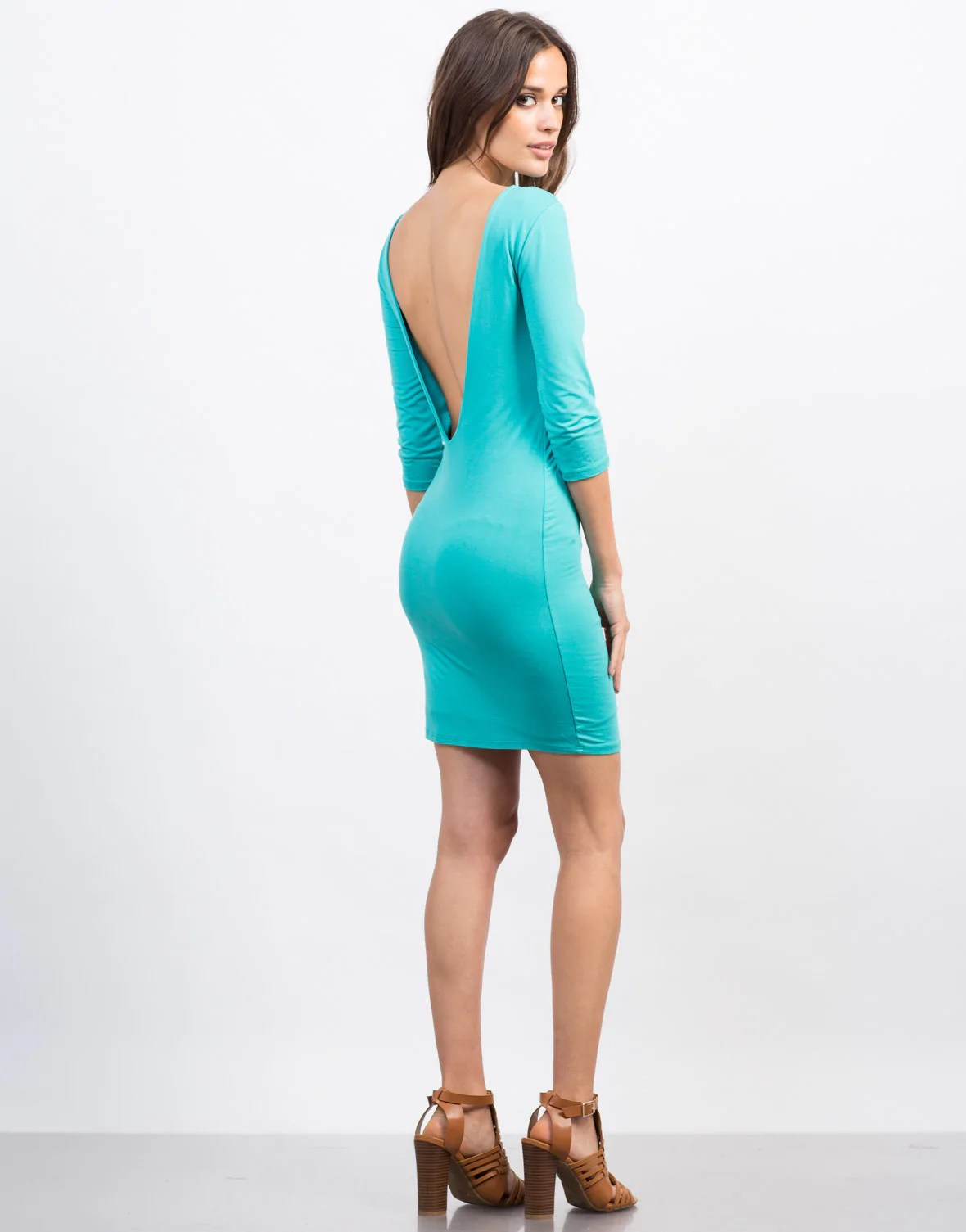 Deep Scoop Back Dress