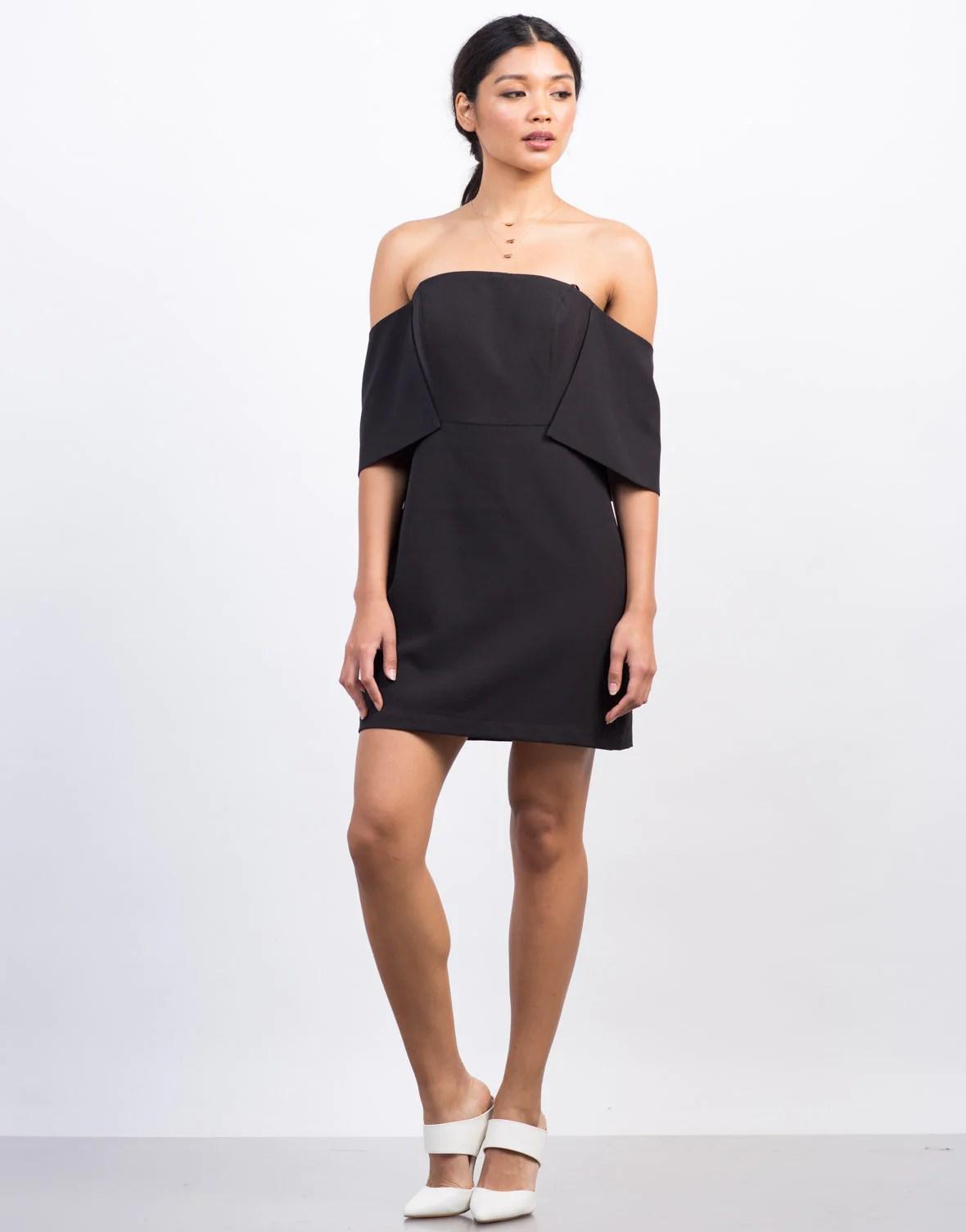 Off the Shoulder Little Black Dress