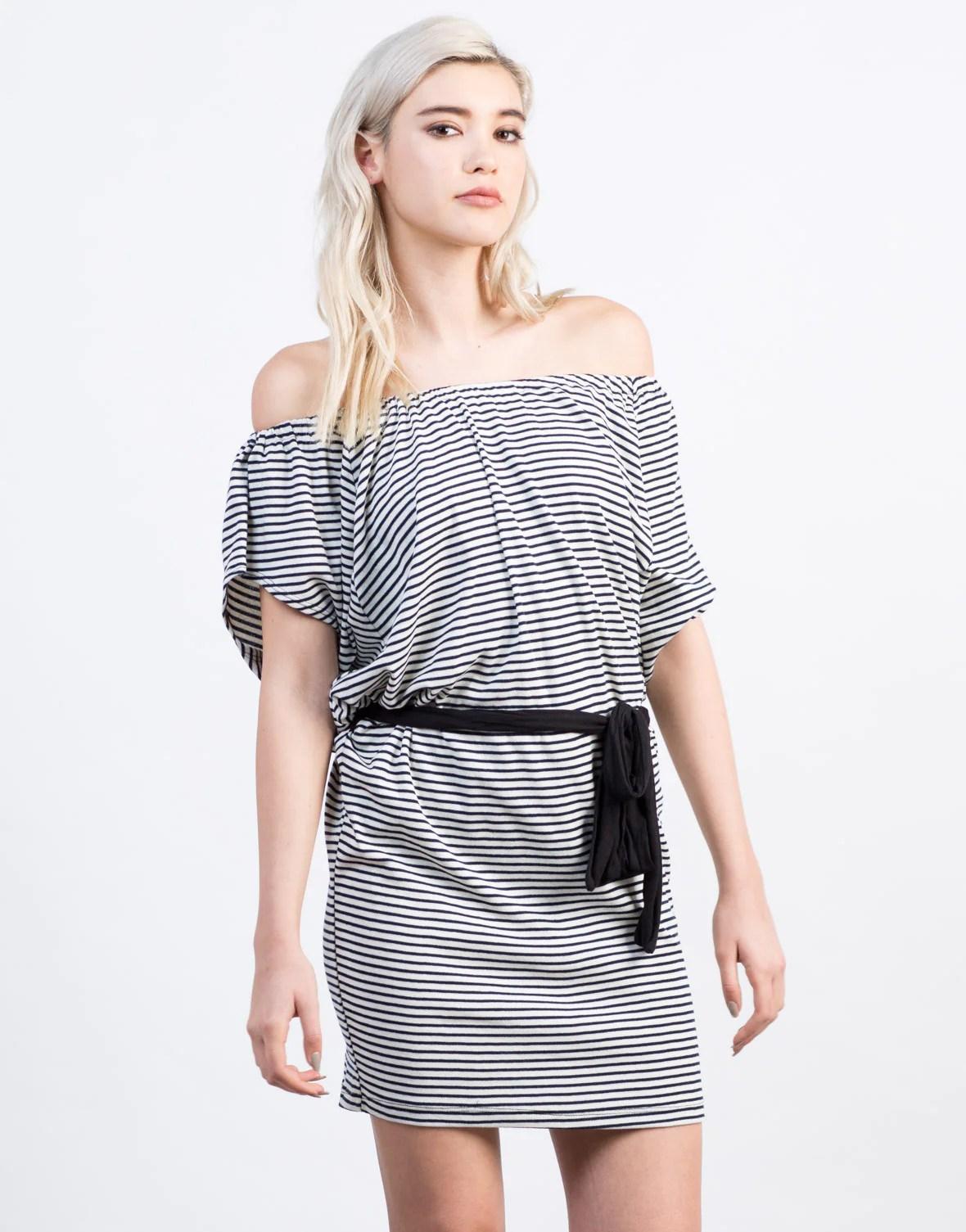 Striped Shoulder Dress - Day 2020ave