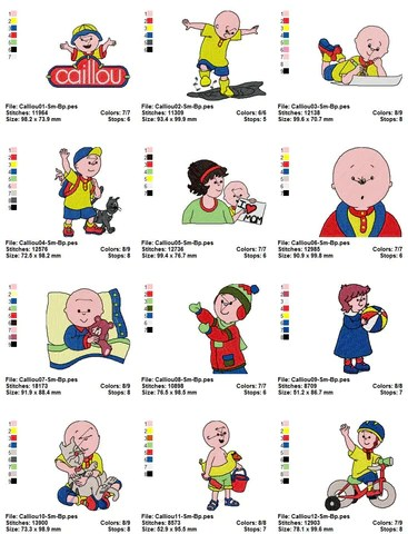 Caillou The Cartoon Character | Cartoonsite.co