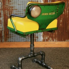 Chair And Matching Stool With Laptop Stand India Steampunk Industrial Antique John Deere Tractor Farm Chairs Bar