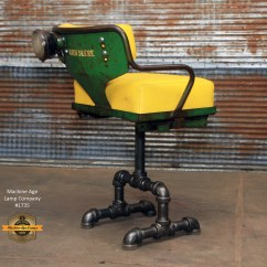 V Steam Chair Upside Down For Back Steampunk Industrial Antique John Deere Tractor Farm