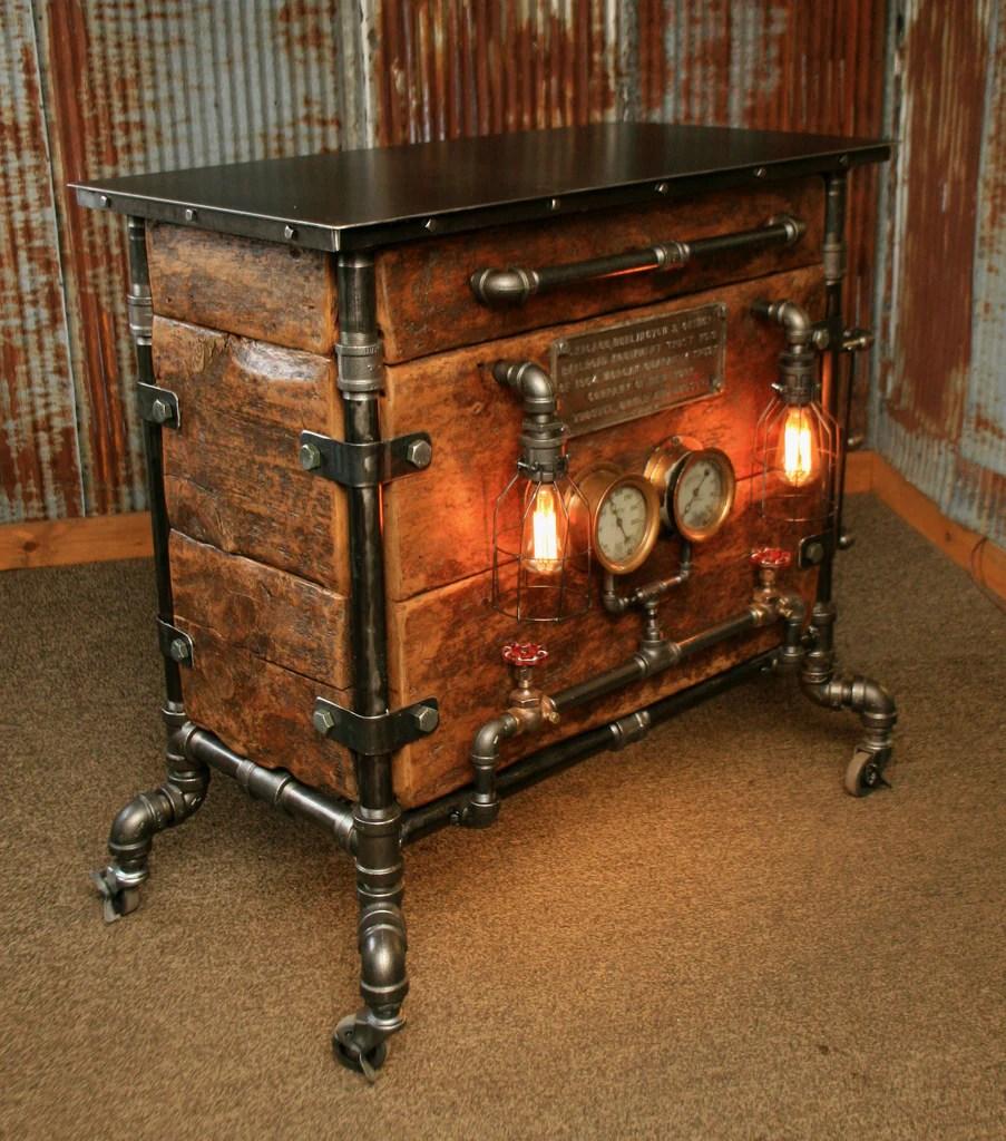 Steampunk Industrial Pipe Furniture
