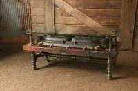 Steampunk Antique Industrial / Coffee Table / Barn Wood ...
