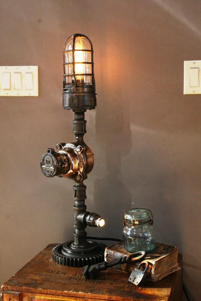 Brass Water Gas Meter Gear Lamp  SOLD
