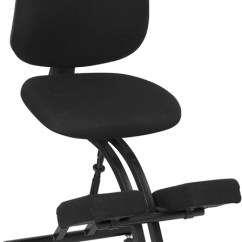 Ergonomic Chair Kneeling Posture Swing Cheap Mobile In Black Fabric With Back