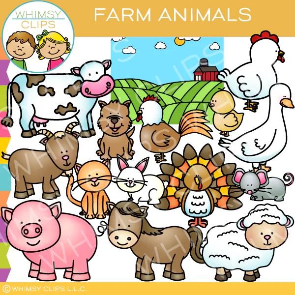 cute farm animals clip