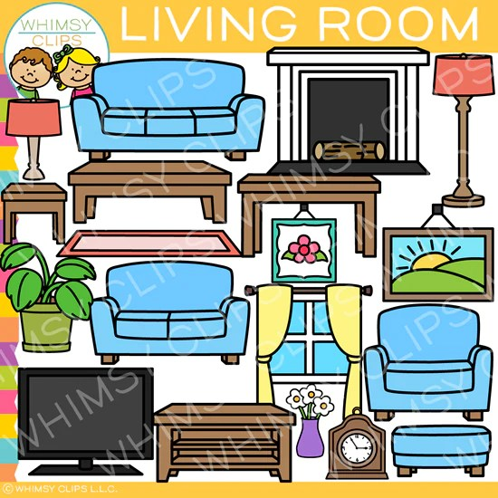 Living Room Furniture Clip Art Images Illustrations Whimsy Clips