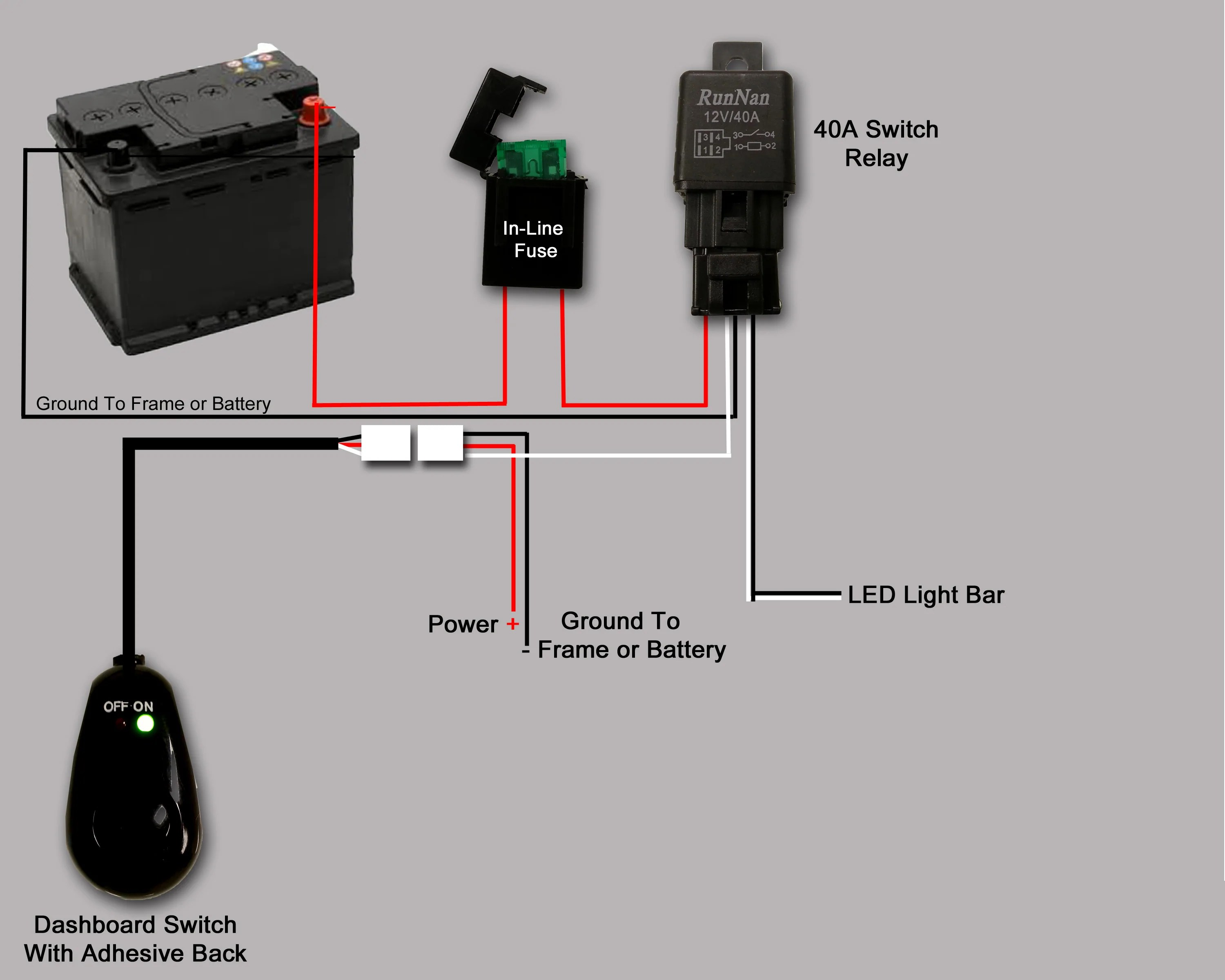 wiring diagram for light bar rocker switch 1995 ford explorer ignition led lightbar help a newbie patrol 4x4 nissan