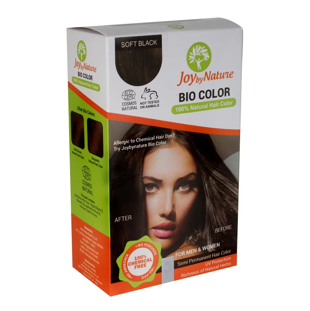 Buy Joybynature Organic Soft Black Hair Color 150gm  Best