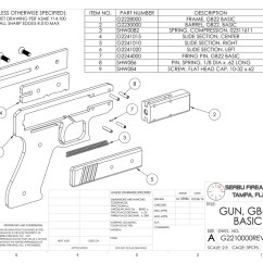 Handgun Slide Parts Diagram 2004 Chrysler Pacifica Fuse Box Gb-22 Plans – Serbu Firearms