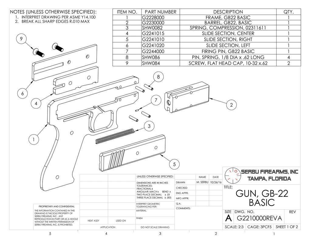 M3 Grease Gun Schematics