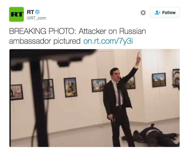 BREAKING PHOTO: Attacker on Russian ambassador pictured
