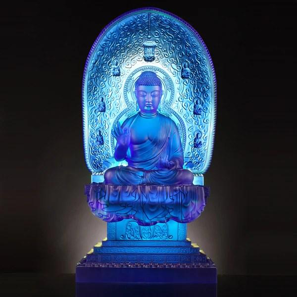 Chinese Dragon Wallpaper Hd Healing Buddha Good Health Blue Medicine Liuli Buddha