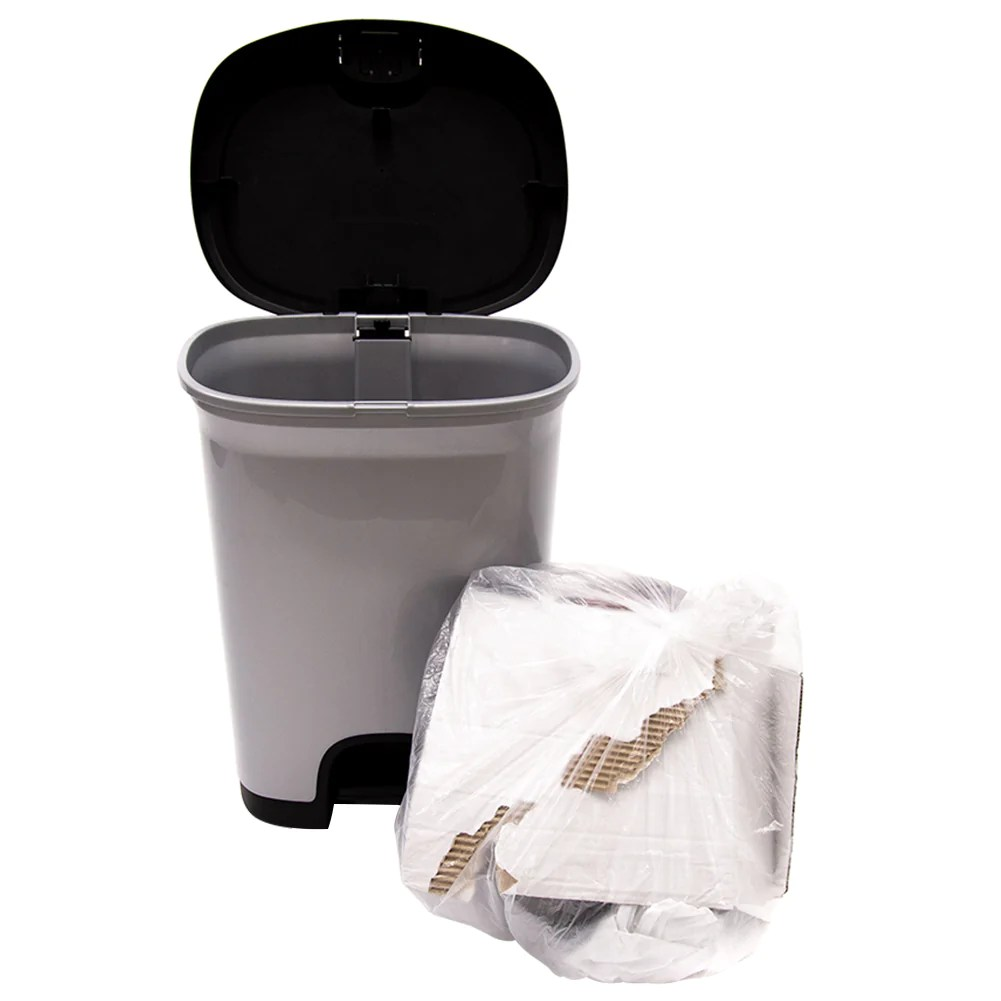 Abba Eco 8 Gallon Clear Wastebasket Liner Kitchen Trash