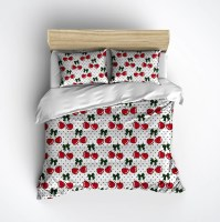 Rockabilly Polka Dots & Cherries Duvet Bedding Sets - Ink ...