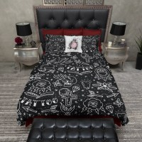 Rockabilly Polka Dots & Cherries Bow Duvet Bedding Sets ...