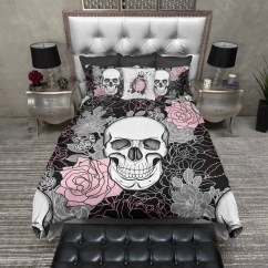Black Kitchen Table Sets Blanco Master Gourmet Faucet Pink And Grey On Flower Skull Duvet Bedding ...