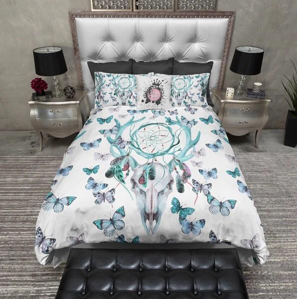 kitchen table sets for sale island with wine fridge blue green dreamcatcher butterfly buck deer skull bedding ...