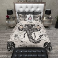 Tribal Elephant and Flower Bedding - Ink and Rags