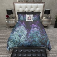 Purple Cannabis Marijuana Bedding - Ink and Rags