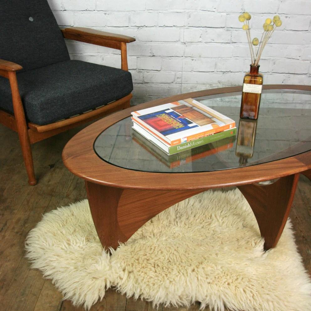 Mid Century Teak G Plan Astro Coffee Table Mustard Vintage