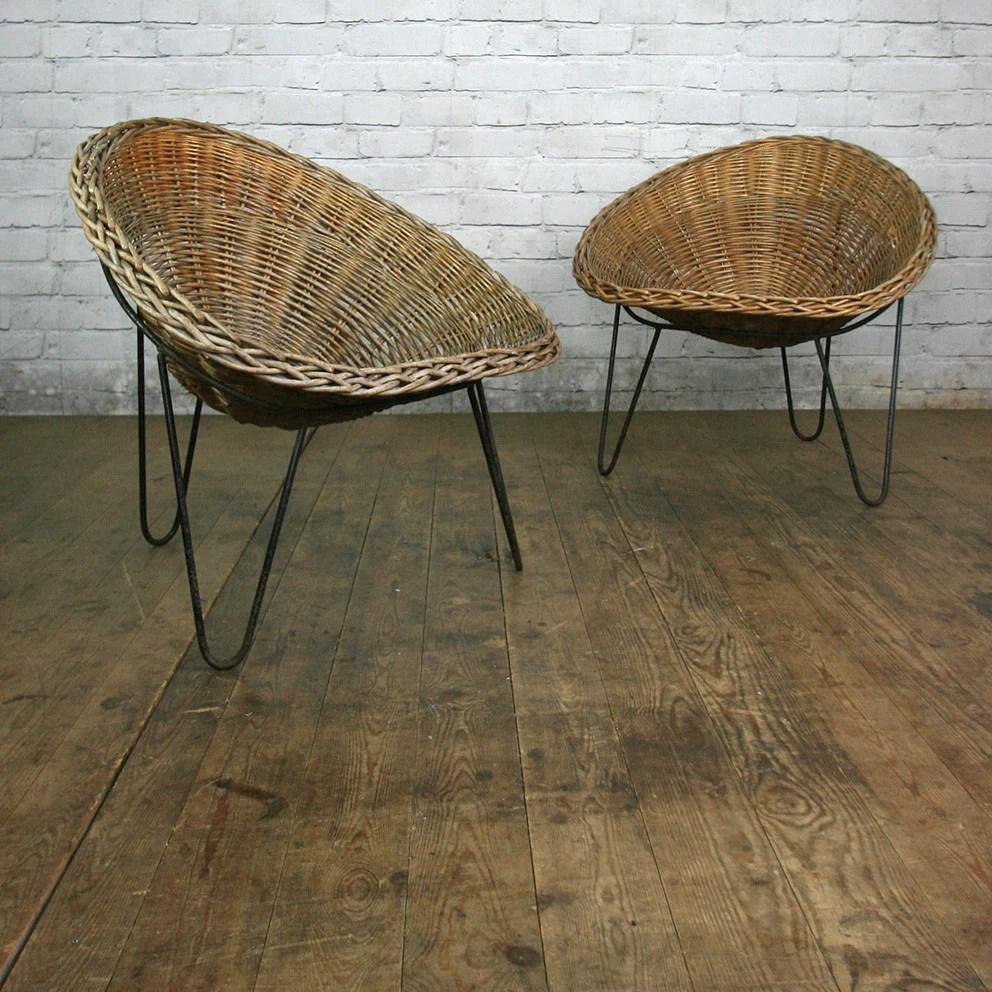Mid Century Wicker Tub Chair Conran 2 In Stock