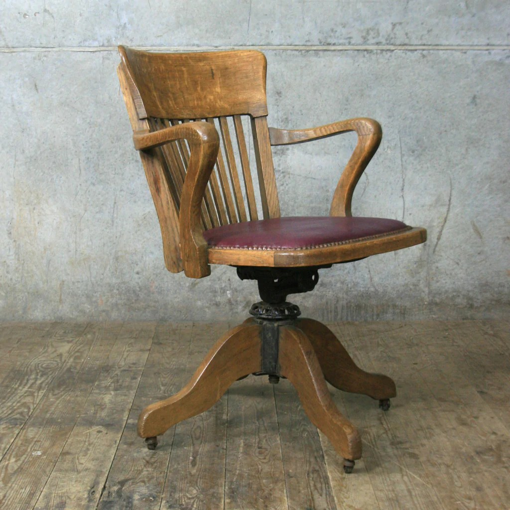 Vintage Swivel Chair Vintage Oak Swivel Desk Chair Mustard Vintage
