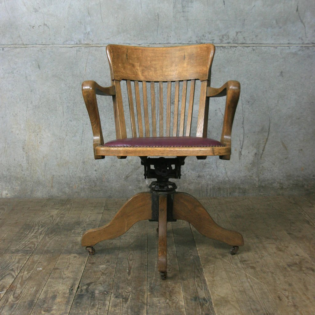 Swivel Desk Chairs Vintage Oak Swivel Desk Chair Mustard Vintage