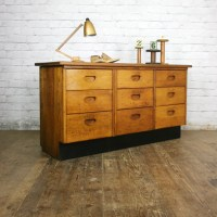 Vintage Oak School Laboratory Bank of Drawers  Retail ...