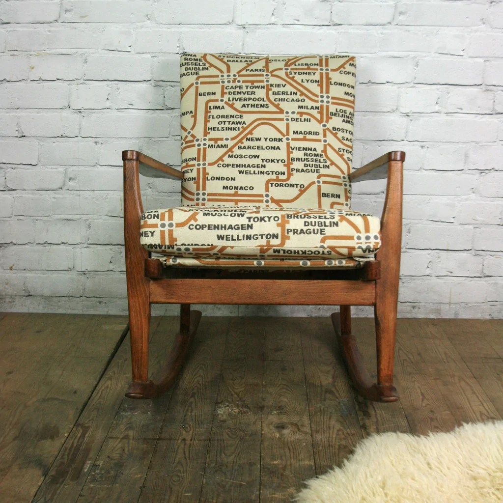 what is a rocking chair sears dining room chairs vintage 1960s parker knoll - mustard