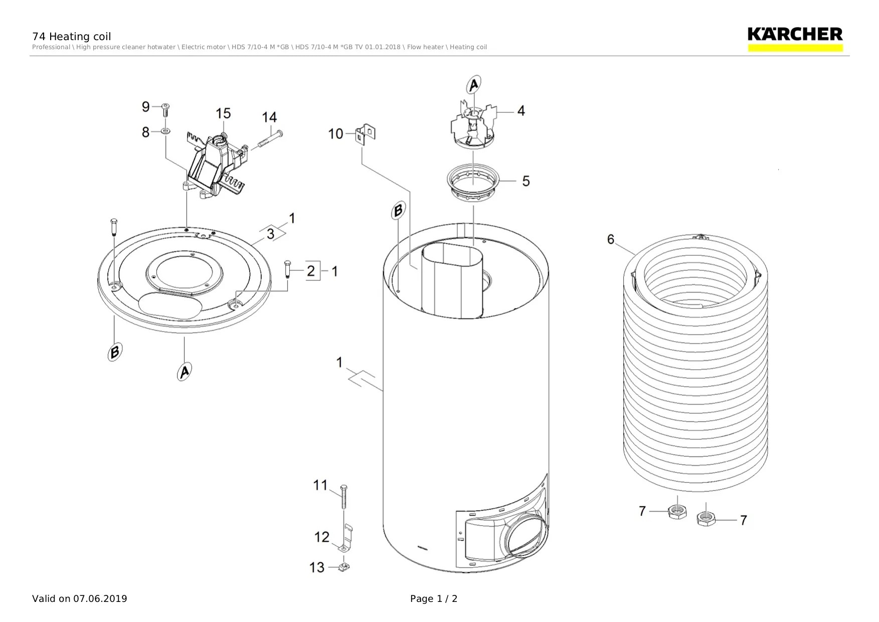 karcher hds 7 10 4m spare parts list [ 1753 x 1240 Pixel ]