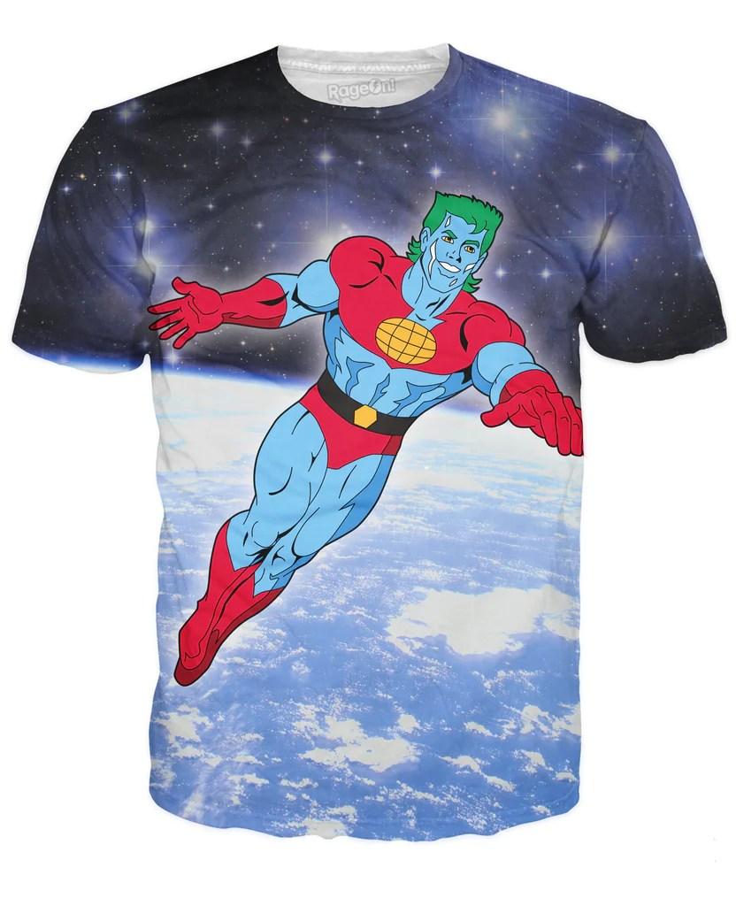 Captain Planet T-shirt Rageon - World' Largest