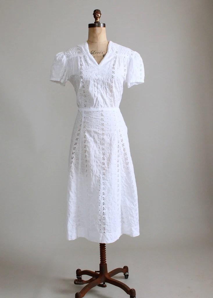 Cotton Eyelet Wedding Dress