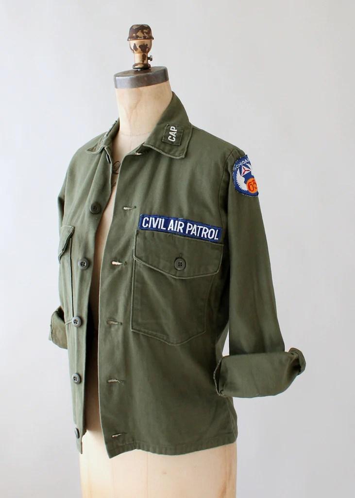 Vintage 1960s Civil Air Patrol Military Jacket  Raleigh Vintage