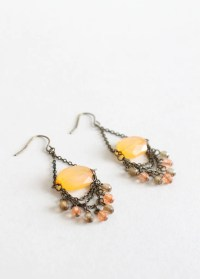 Vintage Citrine Glass Dangle Earrings | Raleigh Vintage