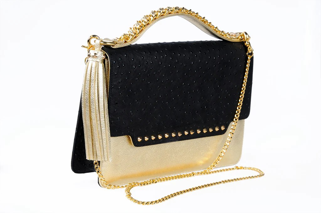 Gold Lola Bag By Abir Achkar